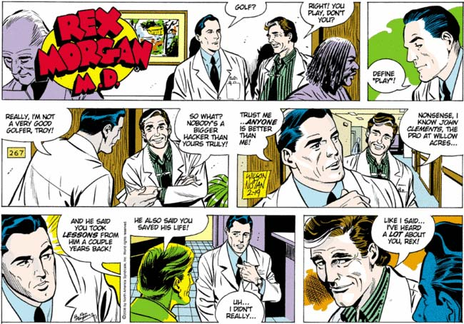 The Comics Curmudgeon ? Rex Morgan, M.D.? More like Gay Sex Morgan, M.D.!
