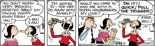 Image result for popeye strip suicide