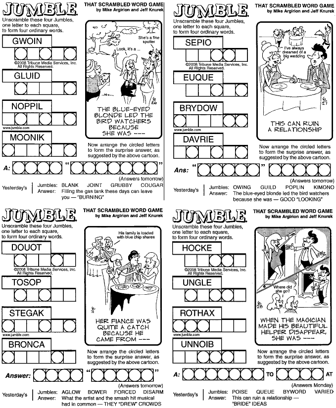 free jumble games