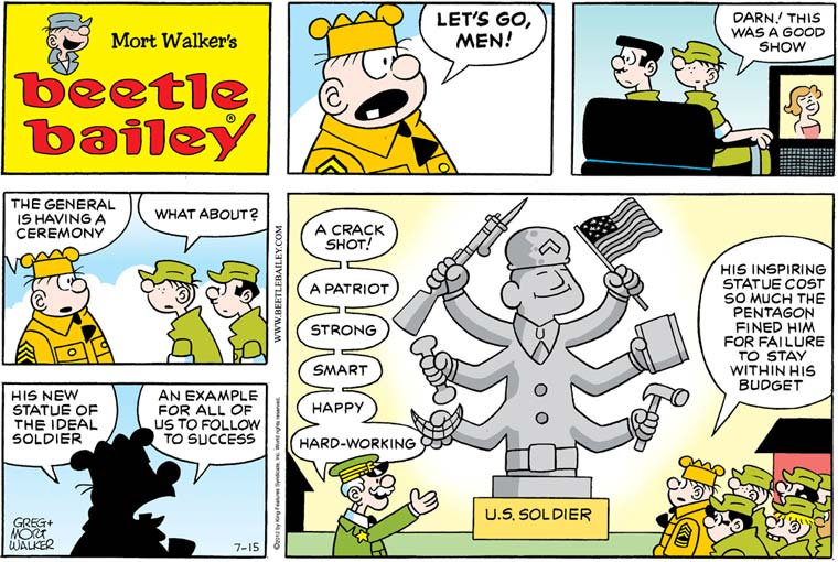 Which is a better depiction of life in the armed forces: Beetle Bailey or Hagar the Horrible?