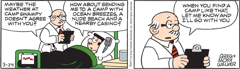 Medical menace comic strip can